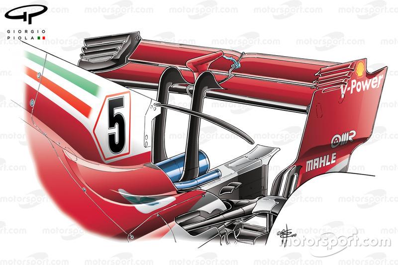Заднє антикрило Ferrari SF71H на ГП Бельгії