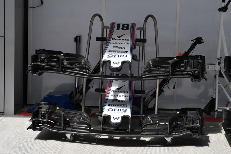 Варианты переднего крыла Williams FW41