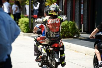 Cal Crutchlow, LCR Honda Castrol, after crash