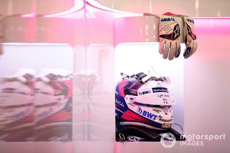 El casco de Sergio Pérez, Racing Point