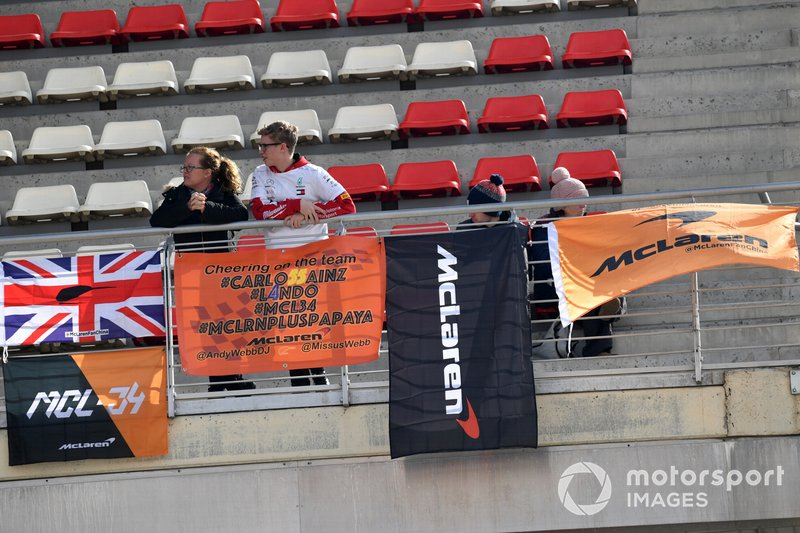 McLaren fans and banners