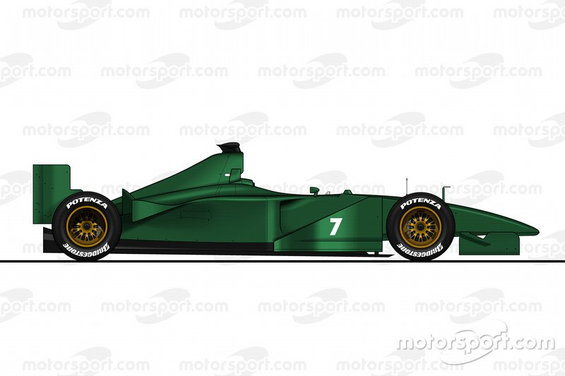 Illustration de la Jaguar R1 (2000) sans sponsors