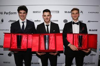 I primi tre della classifica assoluta: Alessio Rovera (2°), Gianmarco Quaresmini (1°) e Diego Bertonelli (3°)