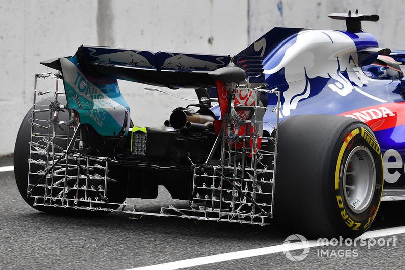 Brendon Hartley, Toro Rosso STR13, avec des capteurs aérodynamiques