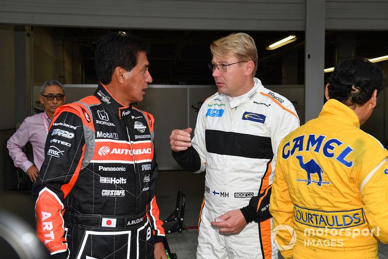 Satoru Nakajima, Aguri Suzuki et Mika Häkkinen