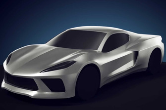 Mid engine Chevrolet Corvette 3D rendering