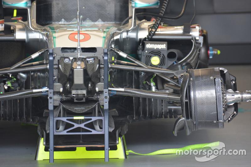 Detalle del Mercedes AMG F1 W07 híbrido