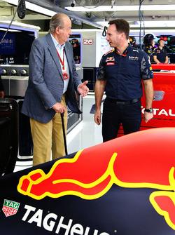 El ex Rey de España Juan Carlos y Christian Horner, Red Bull Racing