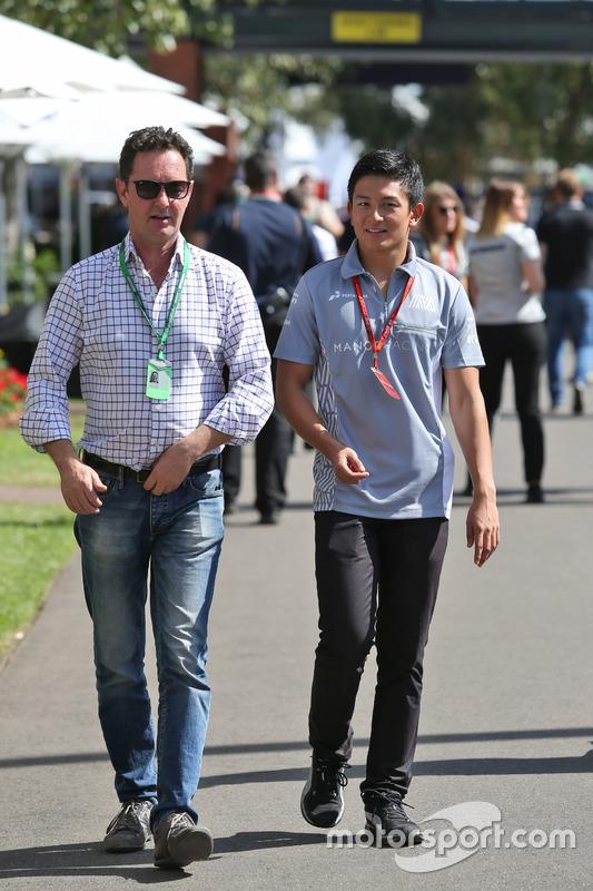 Rio Haryanto, Manor Racing met Piers Hunnisett, Manager