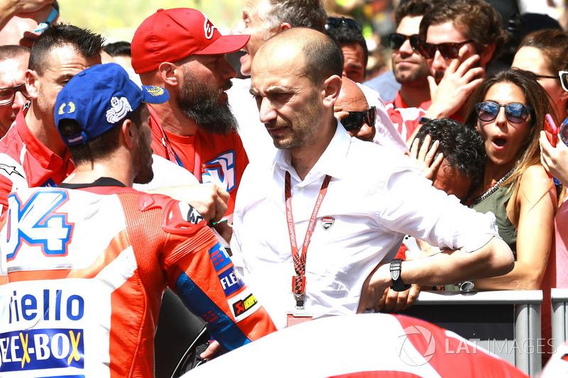 Андреа Довіціозо, Ducati Team, Клаудіо Доменікале, генеральний директор Ducati