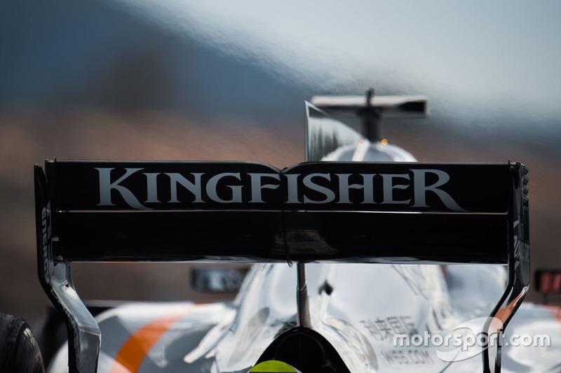 Esteban Ocon, Sahara Force India F1 VJM10 rear wing
