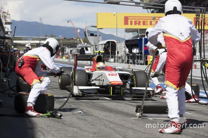 Roberto Merhi, Campos Racing pitstop