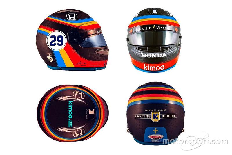 Fernando Alonso Indy 500 helmet design