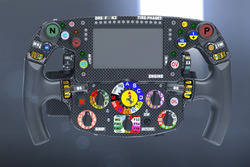 Ferrari SF70H, steering wheel