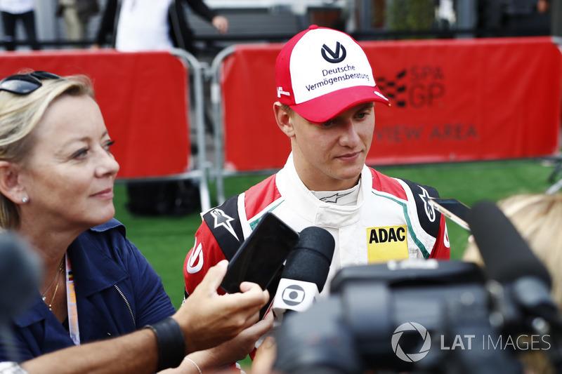Mick Schumacher is interviewed