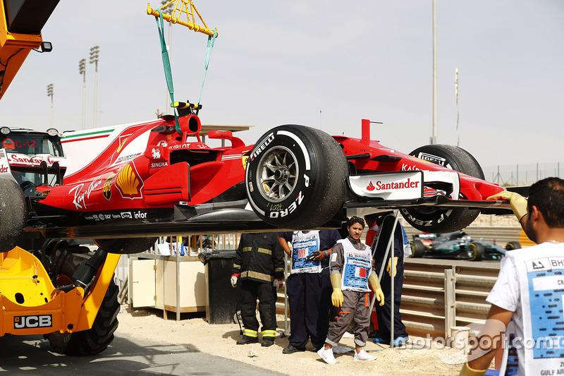 سيارة كيمي رايكونن، فيراري بعد مشكلة بالمحرك