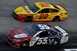 Gray Gaulding, Premium Motorsports Chevrolet, Joey Logano, Team Penske Ford