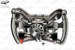 Red Bull RB7 Vettel's steering wheel, rear view