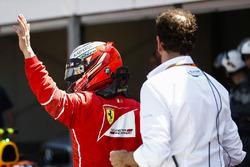 Le poleman Kimi Raikkonen, Ferrari