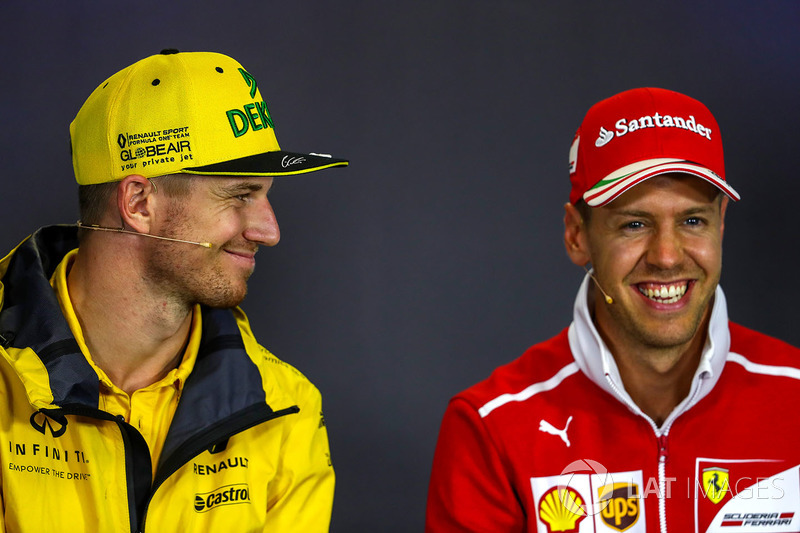 Nico Hulkenberg, Renault Sport F1 Team , Sebastian Vettel, Ferrari