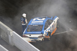 Ryan Blaney, Wood Brothers Racing Ford wreck