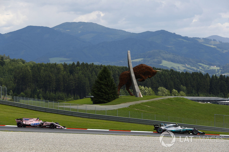 Валттері Боттас, Mercedes AMG F1 W08, Серхіо Перес, Sahara Force India F1 VJM10