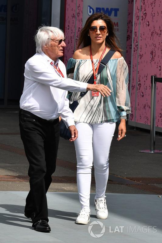 Bernie Ecclestone mit Ehefrau Fabiana