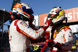 Race winner Scott McLaughlin, Team Penske Ford, second place Fabian Coulthard, Team Penske Ford