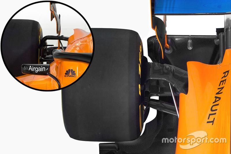 Детали задней подвески McLaren MCL33