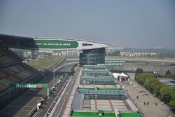 Main straight and paddock overview