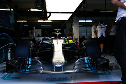 De wagen van Lewis Hamilton, Mercedes AMG F1 W09