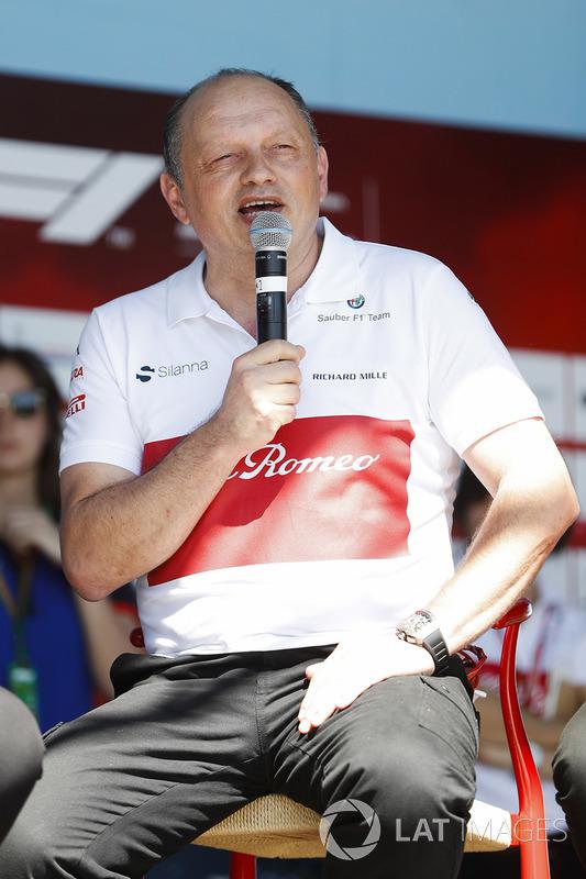 Frederic Vasseur, Team Principal, Sauber, on stage