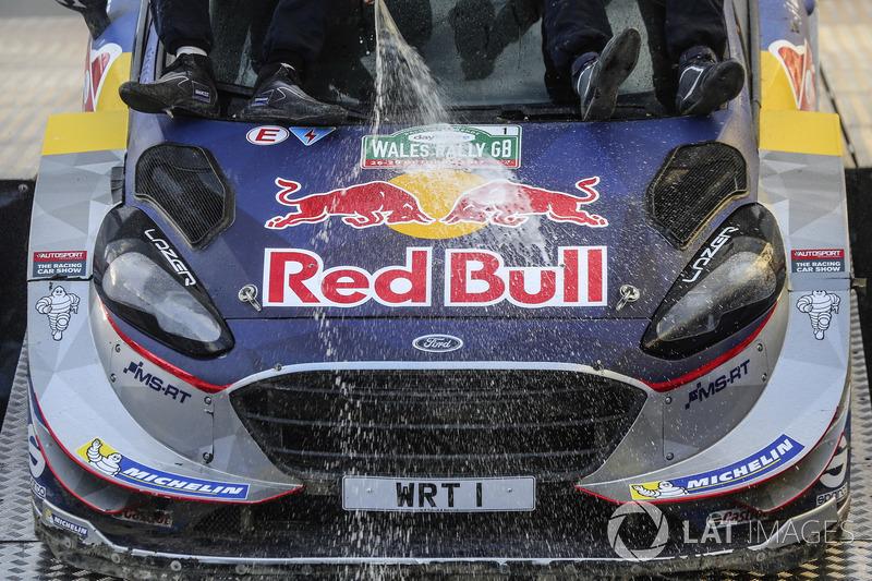 Campeón del mundo Sébastien Ogier, Julien Ingrassia, Ford Fiesta WRC, M-Sport