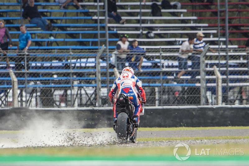 Jack Miller, Pramac Racing, running wide