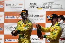 Podium: #47 HTP Motorsport Mercedes-AMG GT3: Maximilian Götz, Markus Pommer