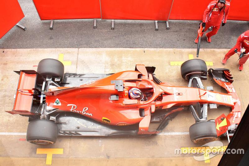 Kimi Raikkonen, Ferrari SF-71H top view
