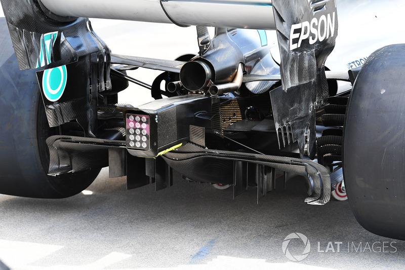 La parte trasera del Mercedes-AMG F1 W09
