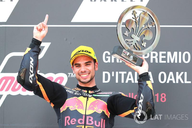 Podium: race winner Miguel Oliveira, Red Bull KTM Ajo Moto2
