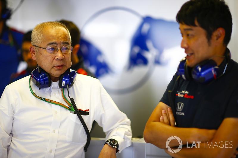 Honda executive in the Toro Rosso garage