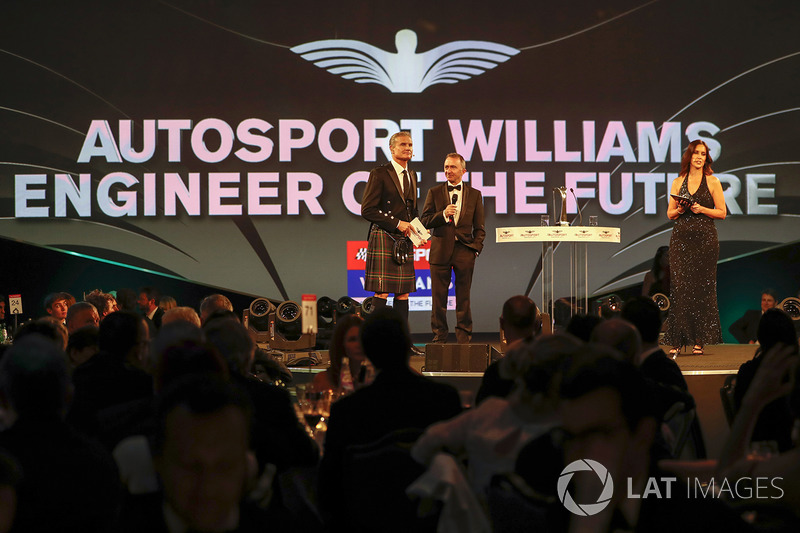 Paddy Lowe, Williams Formula 1, presents the Williams Engineer of the Future award