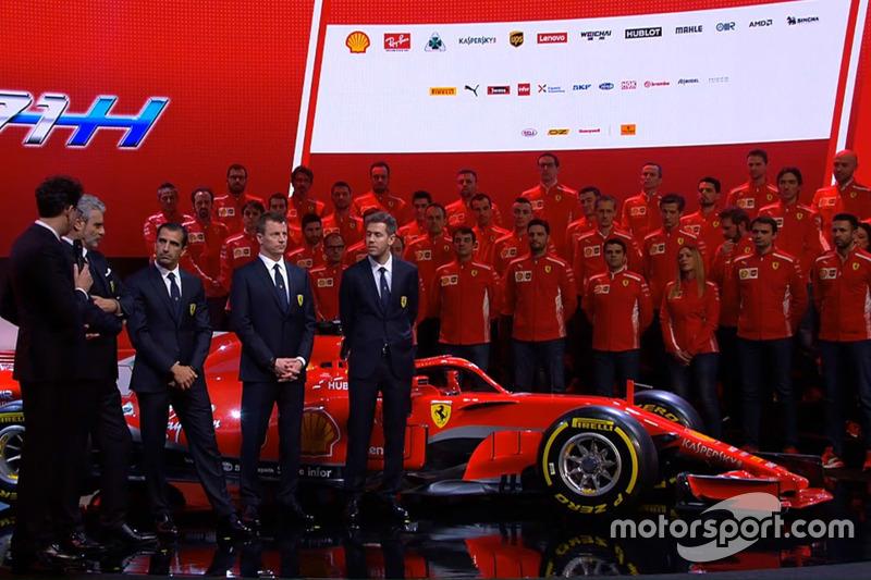 Кімі Райкконен, Ferrari, Себастьян Феттель, Ferrari, Марк Жене, Ferrari, Мауріціо Аррівабене, Ferrari