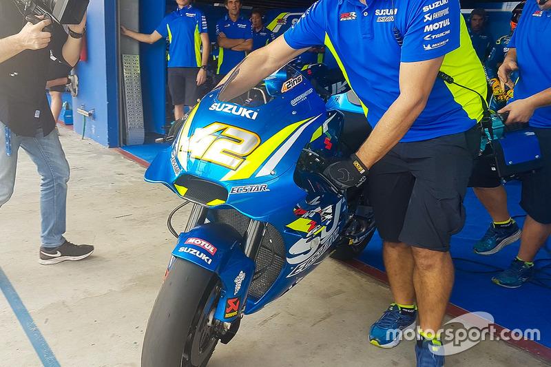 La nuova carena sulla moto di Alex Rins, Team Suzuki MotoGP
