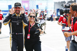 Jean-Eric Vergne, Techeetah, celebrates after winning the championship