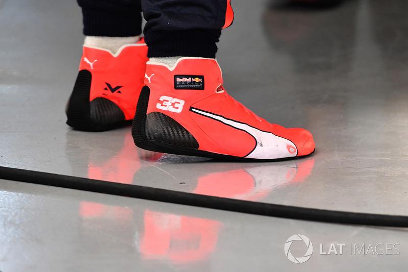 Botas de Max Verstappen, Red Bull Racing