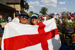 Fans cheer as England take the lead against Sweden in the World Cup