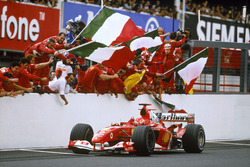 Race winner Michael Schumacher, Ferrari F2004