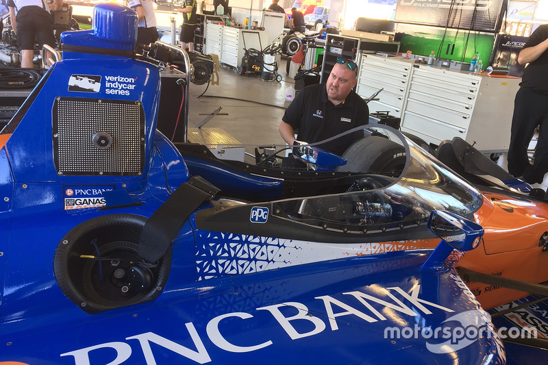 Скотт Діксон, Chip Ganassi Racing Honda, тестує новий aeroscreen
