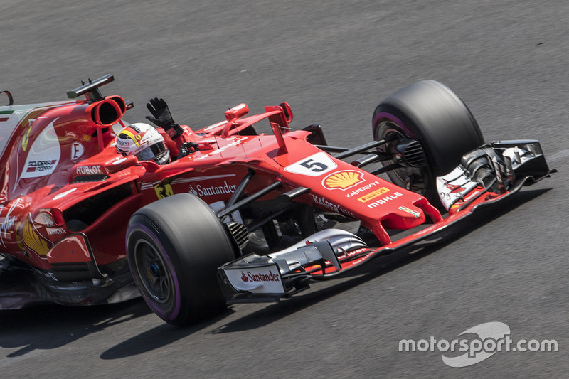 10º Sebastian Vettel - 18 corridas - De Japão 2016 a Itália 2017 - Ferrari