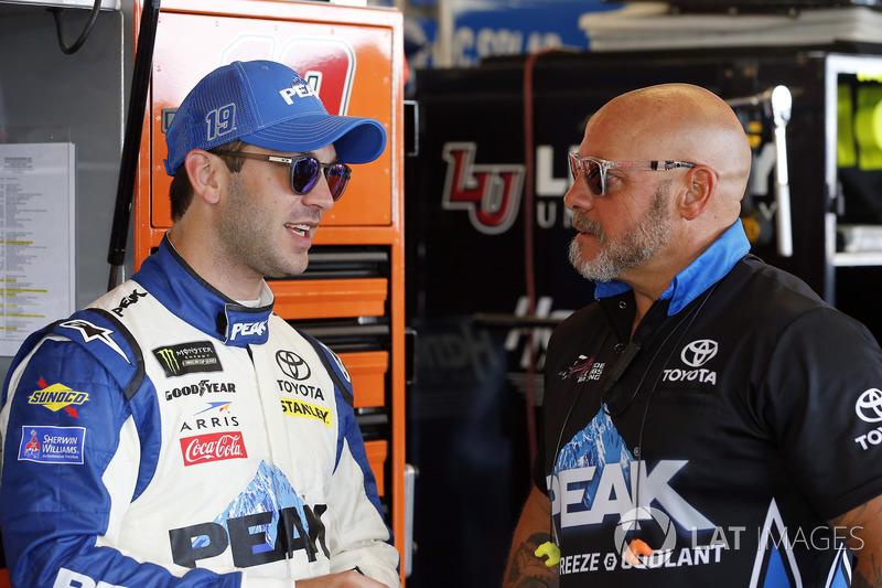 Daniel Suarez, Joe Gibbs Racing, Toyota Camry PEAK e Kyle Bazzell