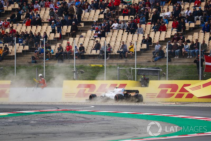 Lance Stroll, Williams Racing, kecelakaan di Q1